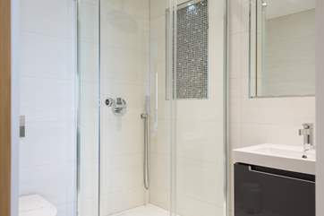 The en suite shower room.