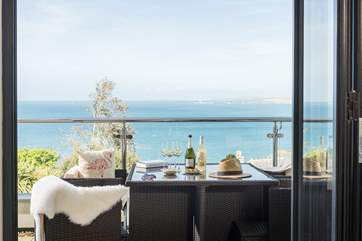 We think the balcony is just perfect, for a chilled glass of white wine.