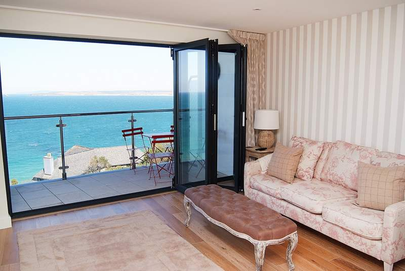 Sea views from the living area.