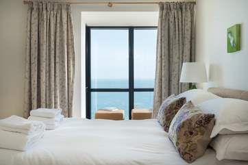 The stunning sea view from the master bedroom.
