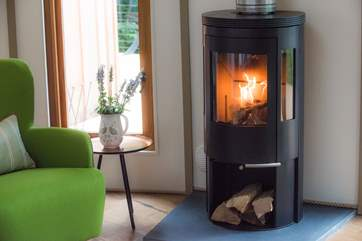 You can light the wood-burner for those chillier evenings but there is under-floor heating too.