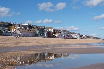Lyme Regis is a short drive further along the coast.