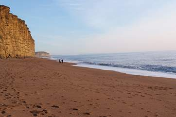 The Jurassic Coast is stunning - you might recognise this view from the television series Broadchurch!