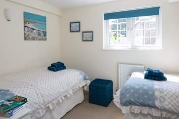 Bedroom 3 has 3ft twin beds.