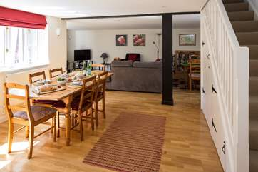 The whole house has a friendly sociable feel, whether for a family or group of friends.