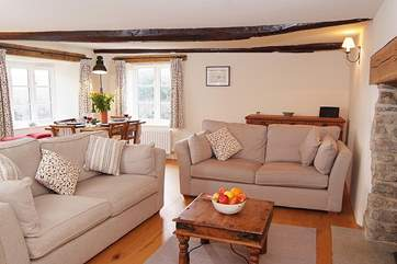 The open plan living-room overlooks the lovely enclosed garden.