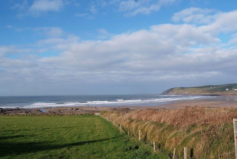 A very short drive along the coast is the renowned surfing beach at Croyde Bay.