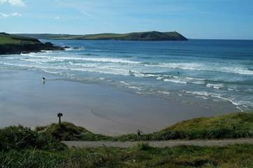 Polzeath beach.
