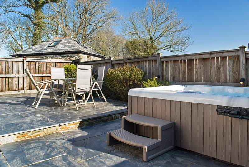 You are sure to enjoy time relaxing in the hot tub