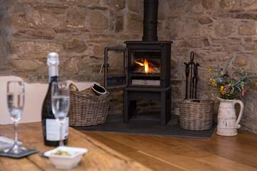 The cosy wood-burner makes this an ideal retreat all year round