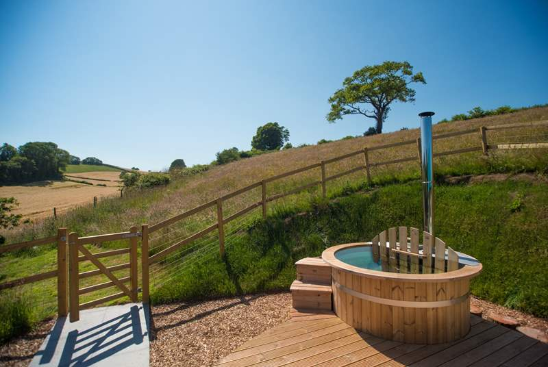 The view towards Brownscombe Valley which can be enjoyed from inside, outside or in the hot tub!