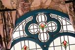 Reclaimed stained glass windows are just a few of the beautiful details you will find in the Tabernacle.