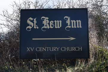 This way to the St Kew Inn!