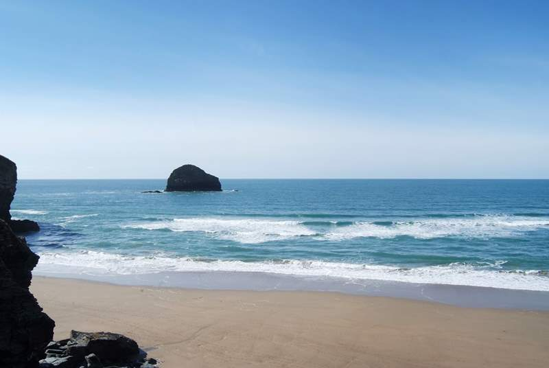 Polzeath beach is just down the road.