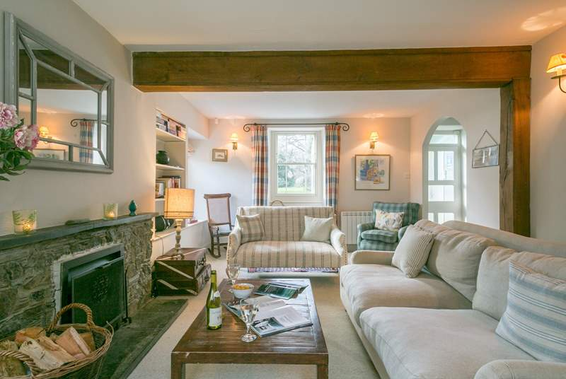The sitting room is wonderfully light and airy