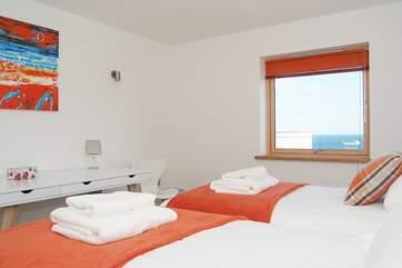 Bedroom 3 also has sea views.