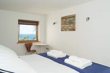 Bedroom 4 has sea views.