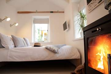 Warm and toasty in this beautiful retreat.
