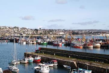 Newlyn Harbour, a great place to buy fresh fish.