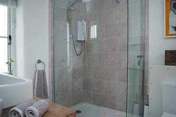 The modern shower-room.