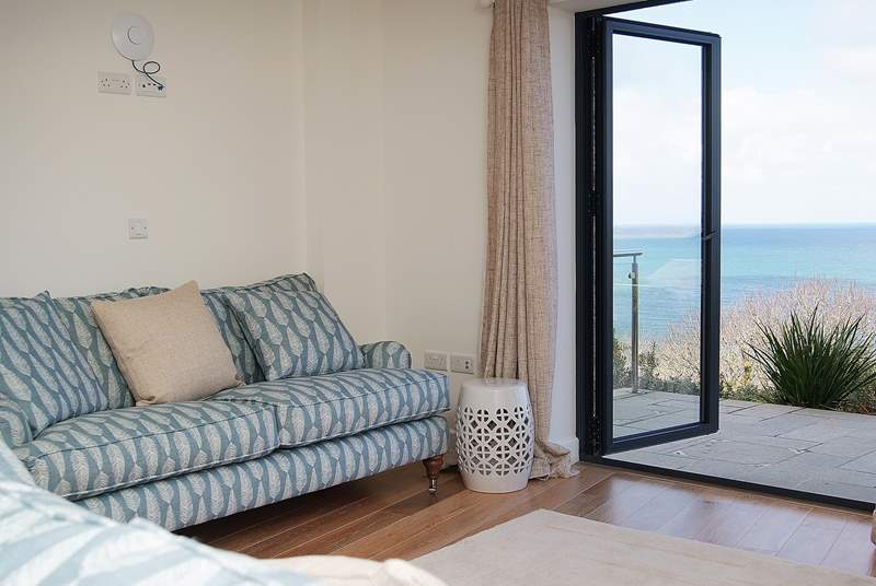 There are lovely sea views from the terrace.