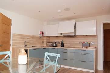 The gorgeous kitchen-area.