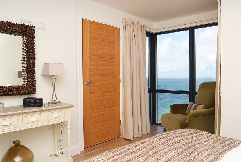 Sea views from the bedroom.