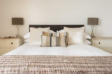 The master bedroom, with exceptional mattresses to ensure a super nights sleep.