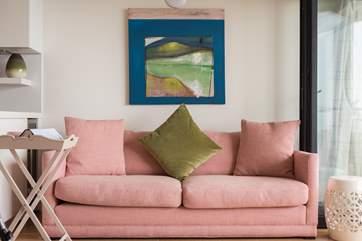 The comfy sofa.
