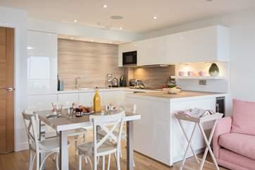 The fabulous kitchen area.