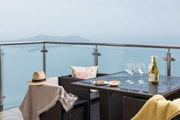 The gorgeous balcony, the perfect spot for a glass of wine.