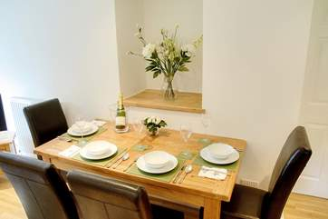 The dining-area in Hendre Cottage.