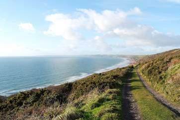 Coast walks along nearby Whitsand beach and cliffs.