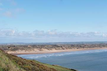 North Devon has some of the most spectacular beaches you could wish for. This is Saunton Sands.