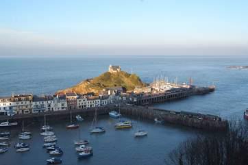 You can take a boat trip along the coast from Ilfracombe.