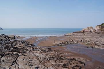 This is a great exploring beach for children, with sand and rock pools.
