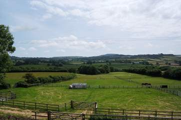 This is the outlook from West Farm - Phoebes House is at the top of the farmstead with its own private garden.