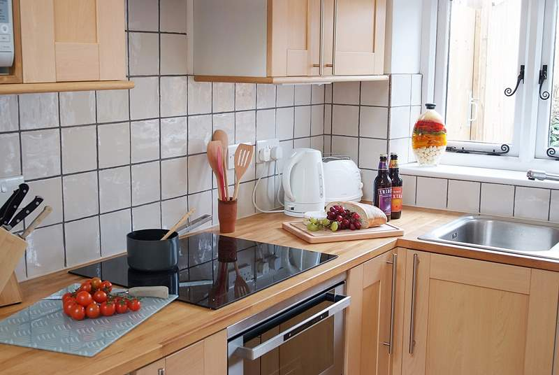 The well-equipped kitchen-area is small but perfectly formed.