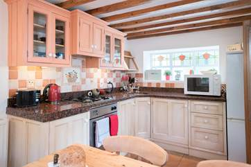 The kitchen is well-equipped, a friendly home from home.