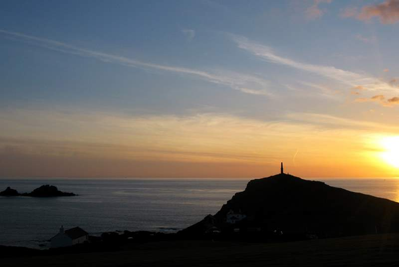 Sunset at Cape Cornwall.