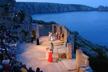 An evening performance at the nearby Minack Theatre.