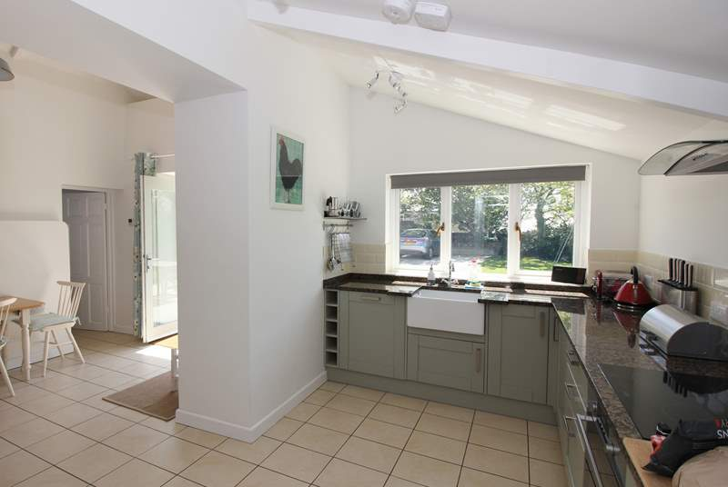 The spacious kitchen and dining-area.