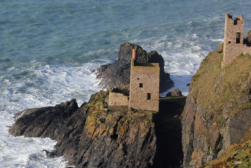 The mines at Botallack two miles away.