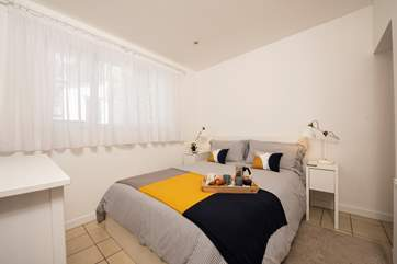 The double bedroom boasts a king size bed.