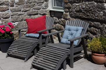 Relax and soak up the rays on the comfy sun-loungers,