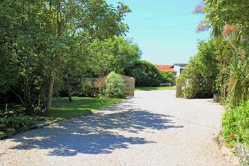 The impressive driveway leading to Mackerel Sky - your holiday starts here!