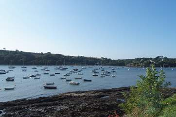 River moorings on the Helford Passage, why not hire a boat and spend some time on the water.