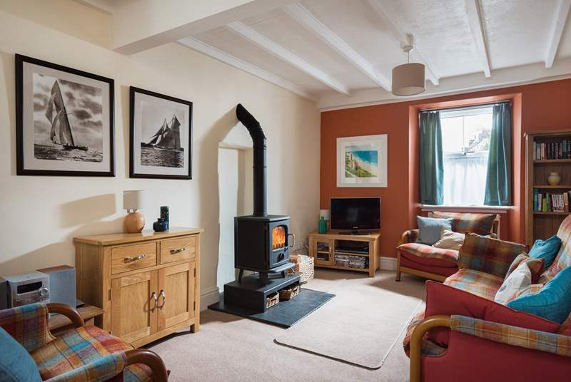 The wood-burner creates a cosy warmth on those cooler days and evenings, guests have commented that the cottage 'charmed us with its warmth and character.'