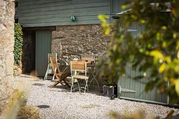 To the rear of the cottage is the private courtyard which can be a real sun-trap.