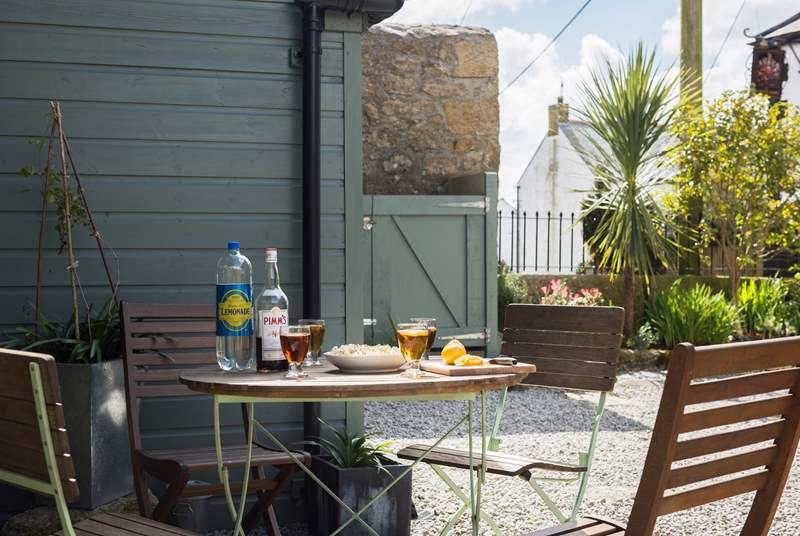 A great spot to sit with a glass or two or breakfast before you go out exploring this beautiful and unspoilt area.